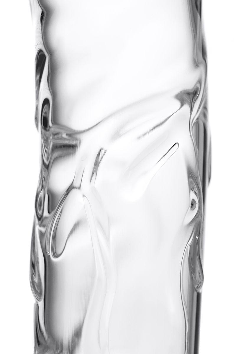 Нереалистичный фаллоимитатор Sexus Glass, Стекло, Прозрачный, 18,4 см