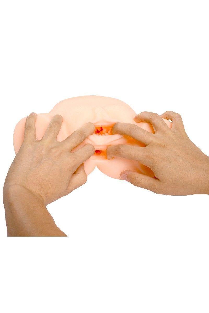 Мастурбатор реалистичный вагина+анус, XISE, TPR, телесный, 20 см.