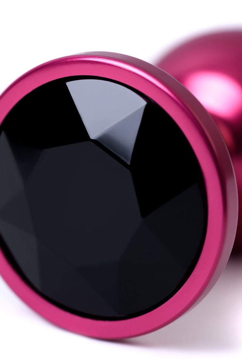 Анальный страз, TOYFA Metal, красный, с кристаллом цвета турмалин, 7,2 см, Ø2,8 см, 50 г