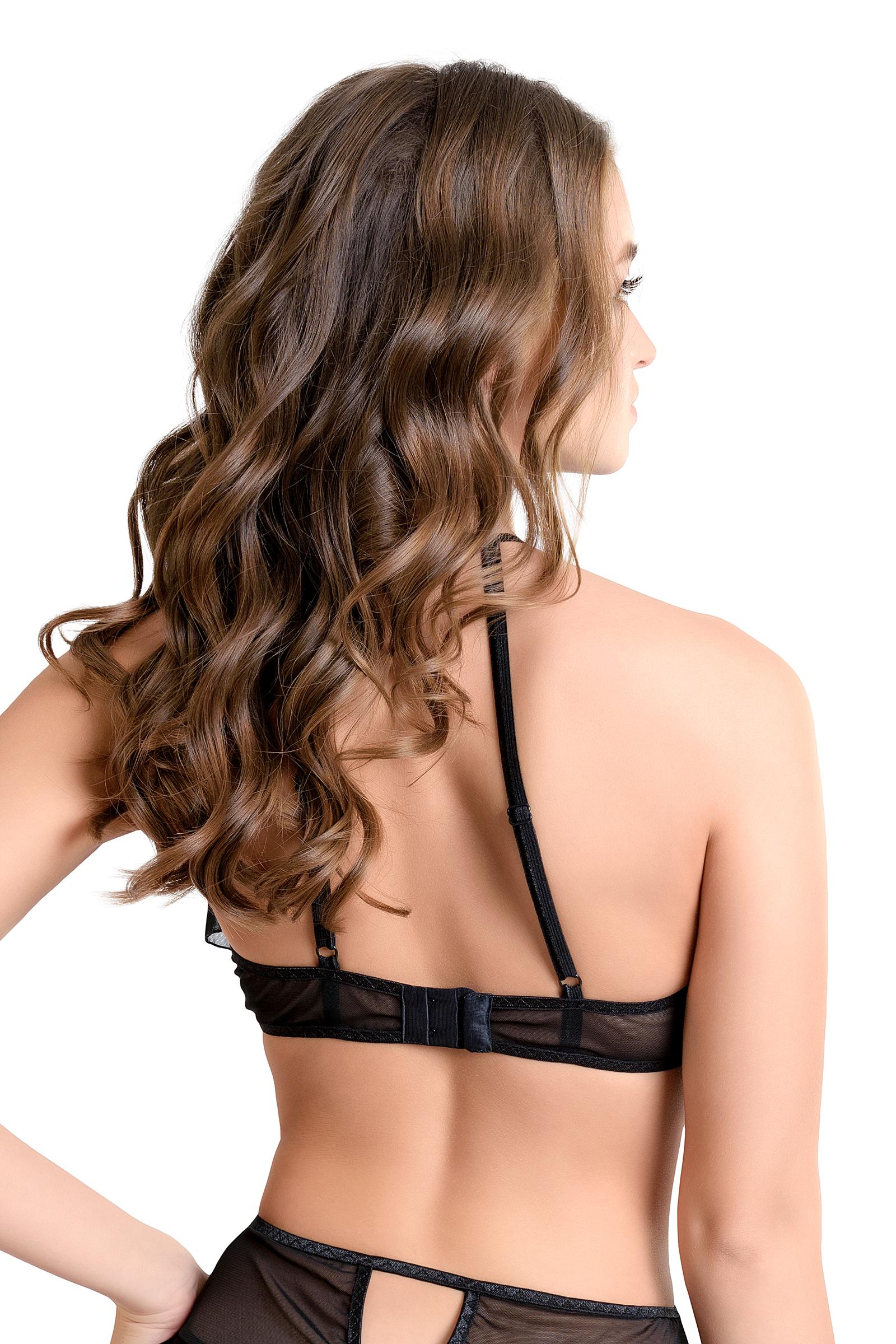 Эротический бралетт Erolanta Karen с открытой грудью, черный (42-44)