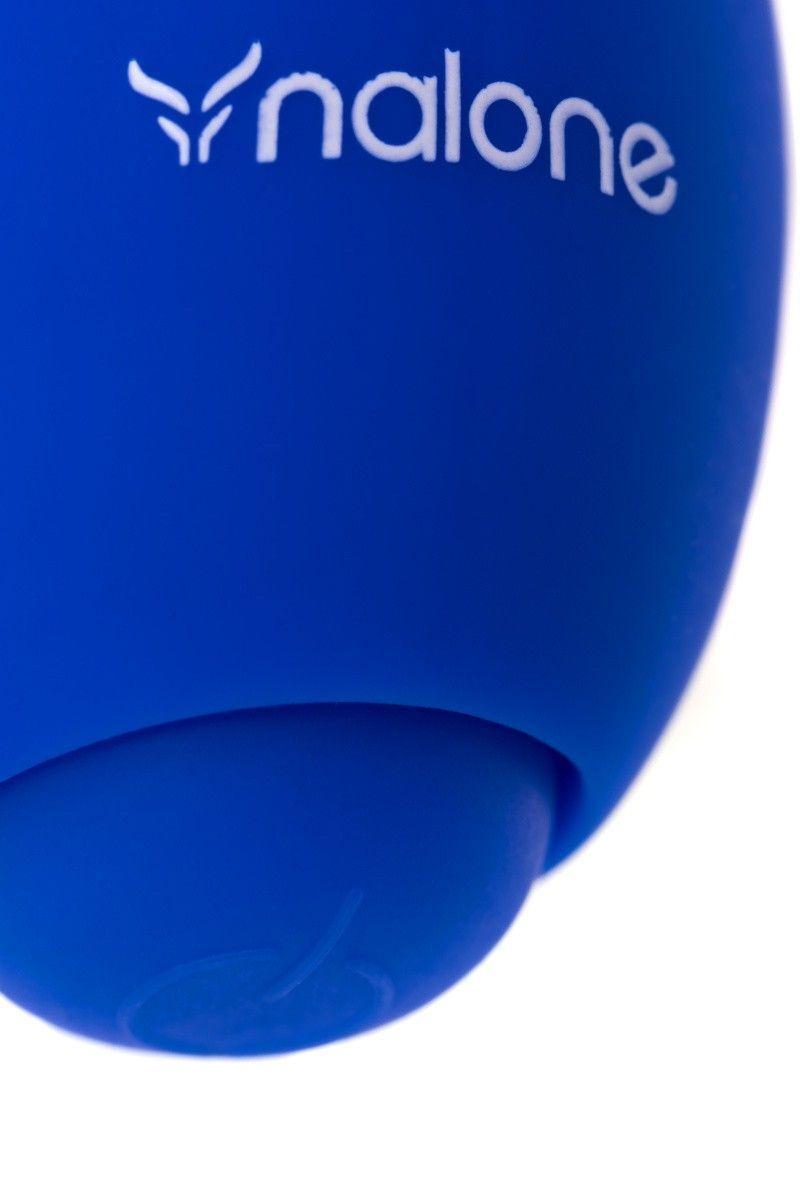 Вибратор для пар Nalone CO CO, Силикон, Синий, 8,6 см