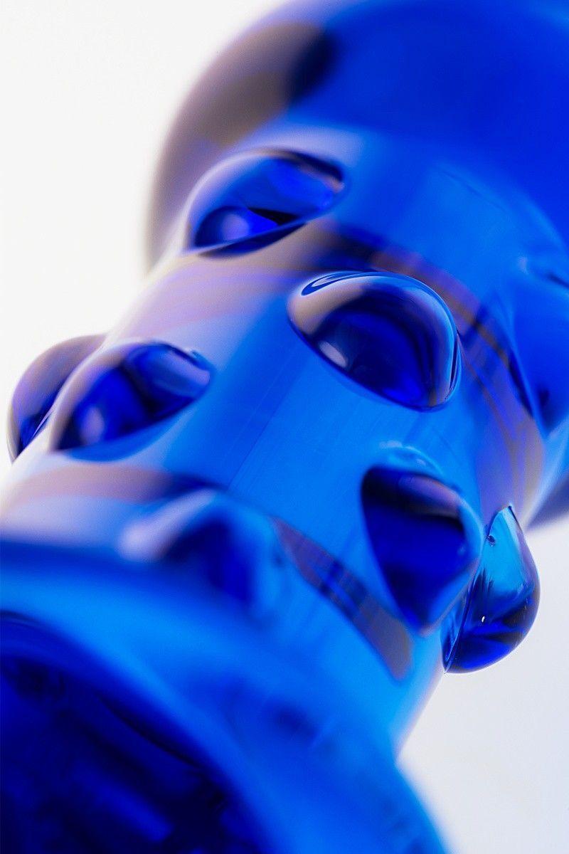 Анальная втулка Sexus Glass, Стекло, Синий, 16 см