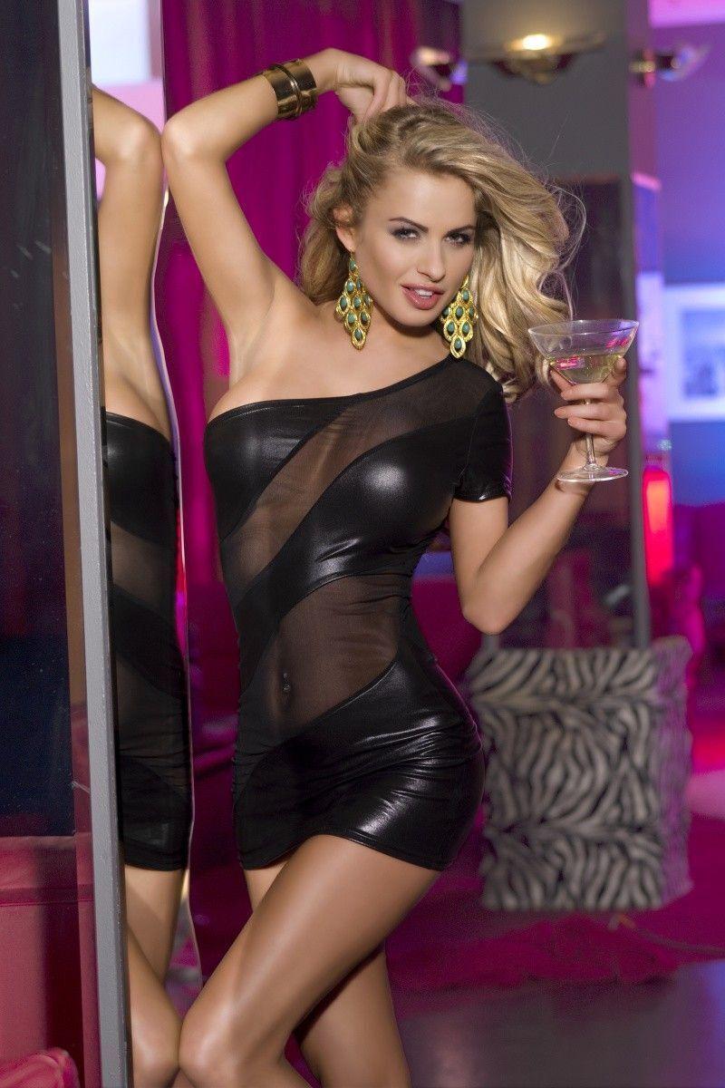 OS Клубное платье Candy Girl с открытым плечом, черное