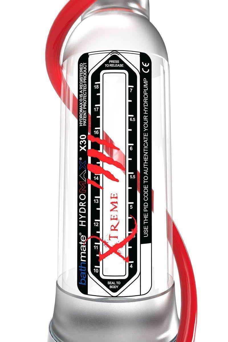 Гидропомпа Bathmate Hydromax Xtreme X30, прозрачная, 30 см