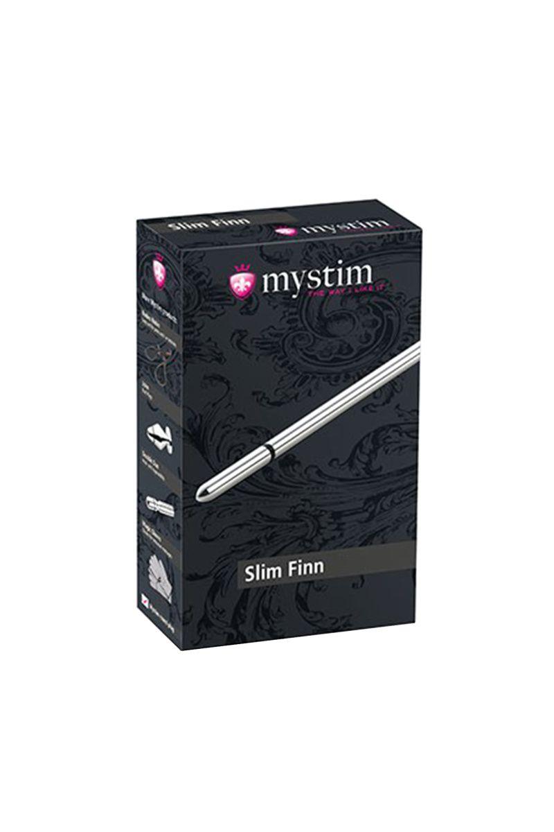 Электростимулятор уретры Mystim Slim Finn, хирургическая сталь, серебристый,15 см