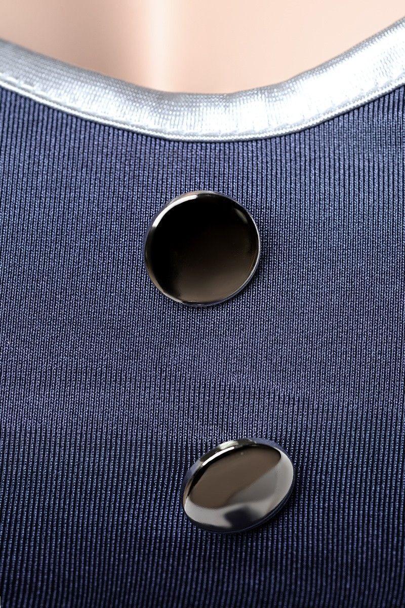 OS Костюм пилота Candy Girl (платье, стринги, головной убор), синий
