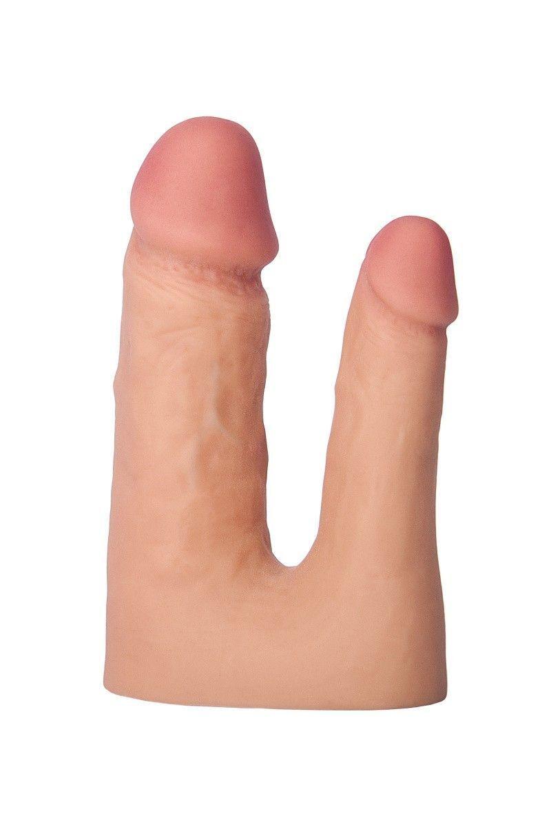 Насадка TOYFA XLover Double Pleasure  реалистичная для двойного проникновения , TPR, телесный, 19 см