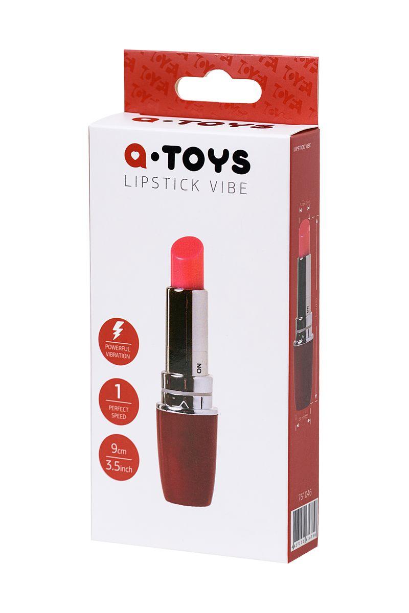 Вибромассажер A-Toys by TOYFA Lipstick, ABS пластик, красный, 9 см