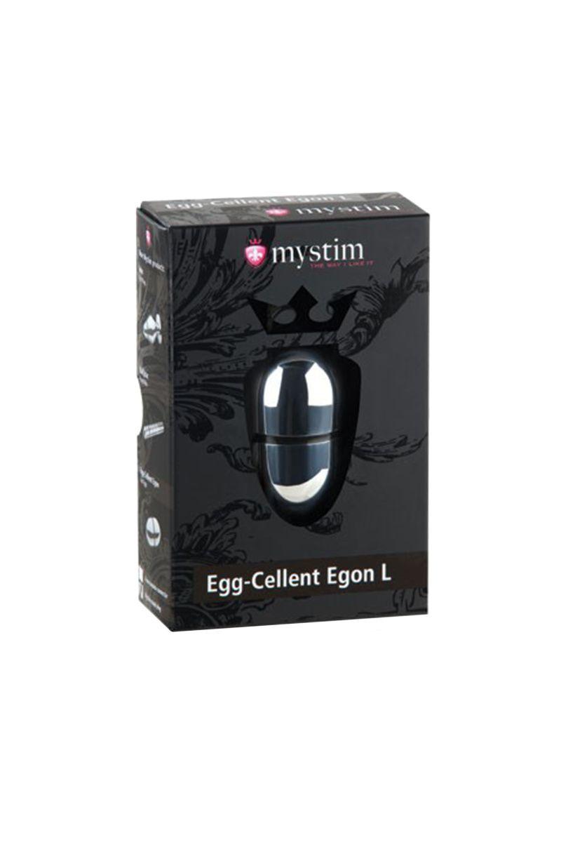 Электростимулятор яйцо Mystim Egg-cellent Egon L,хирургическая сталь, серебристый,7 см