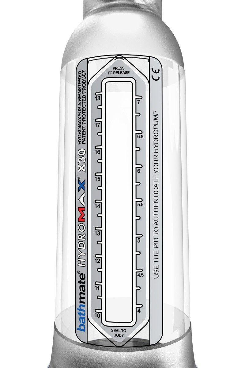 Гидропомпа Bathmate Hydromax X30, прозрачная, 30 см