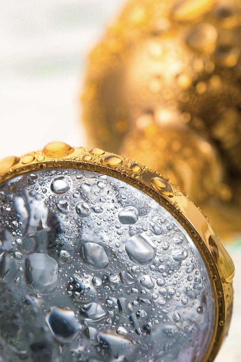 Анальная втулка TOYFA Metal маленькая, золотая, с белым кристаллом