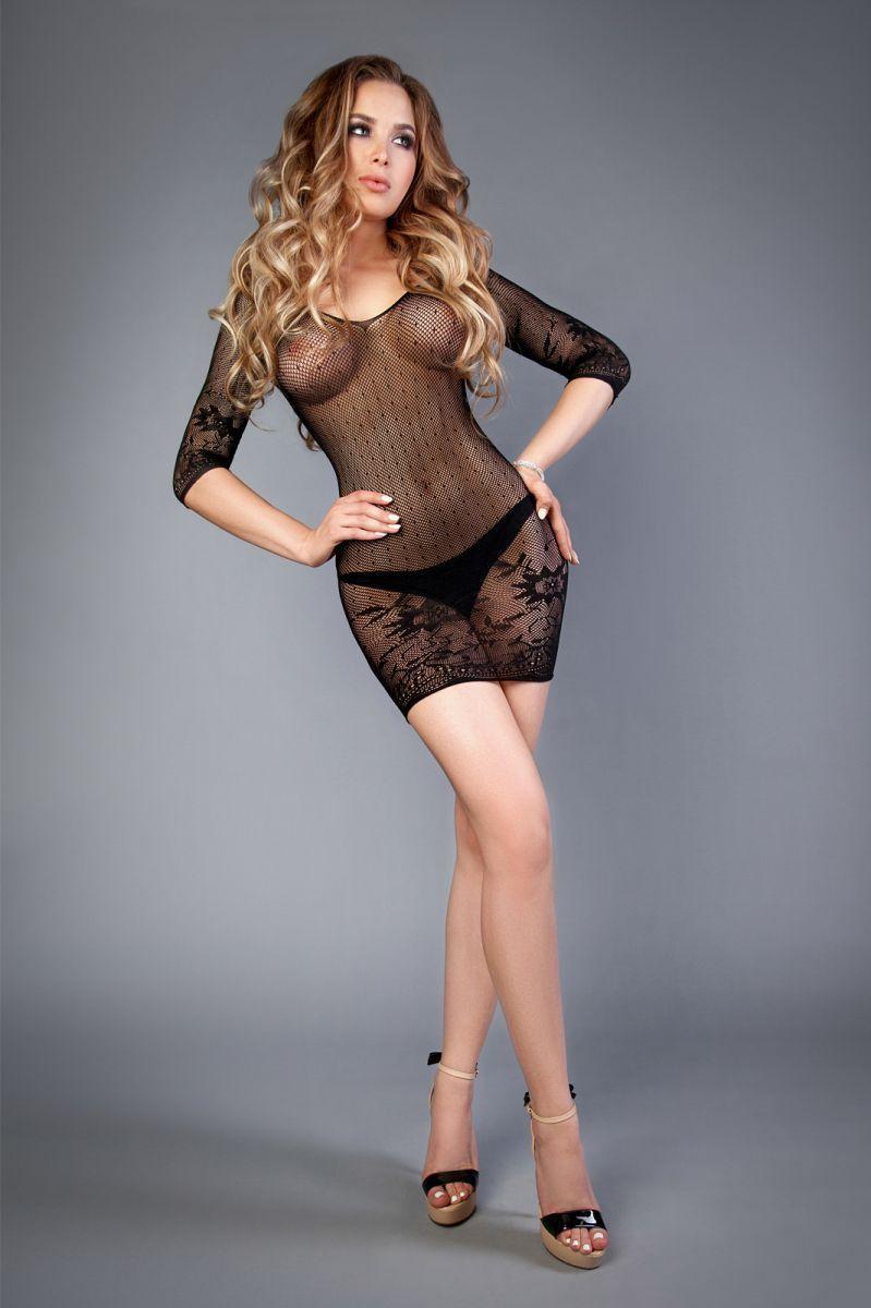 Платье черное с длинным рукавом Le Frivole черный S/L