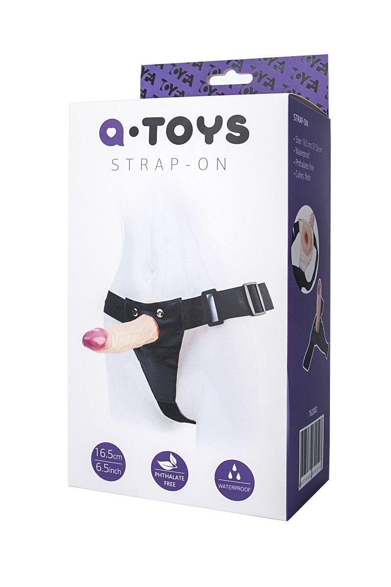 Страпон-насадка на креплении ToyFa A-toys, PVC,Телесный, 18 см