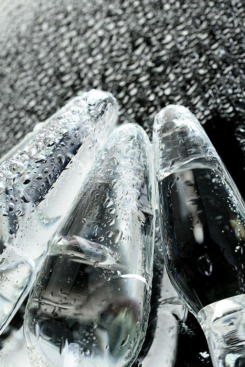 Набор анальных втулок Sexus Glass, стеклянная, бело-чёрная, 11,6 см