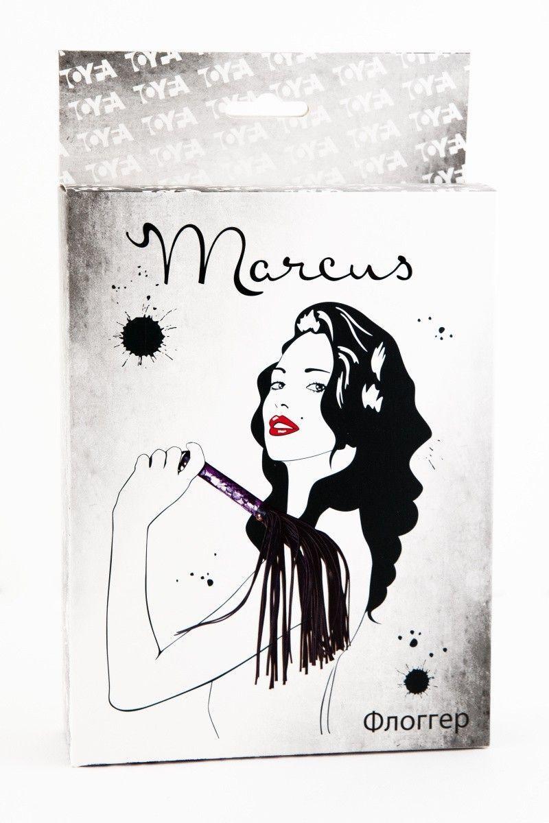 Флоггер с кружевной ручкой TOYFA Marcus пурпурный, 38 см
