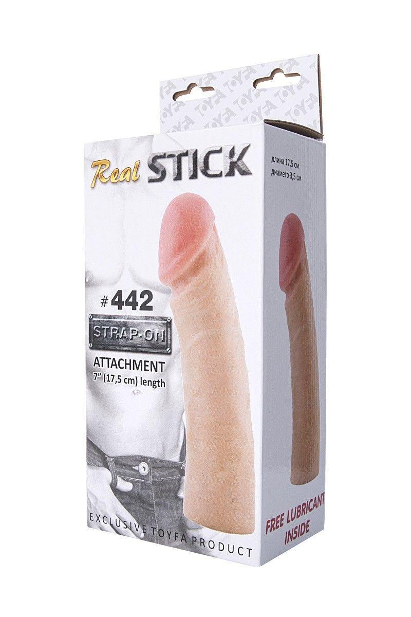 Фаллоимитатор-насадка RealStick #442, телесный, 17,0 см