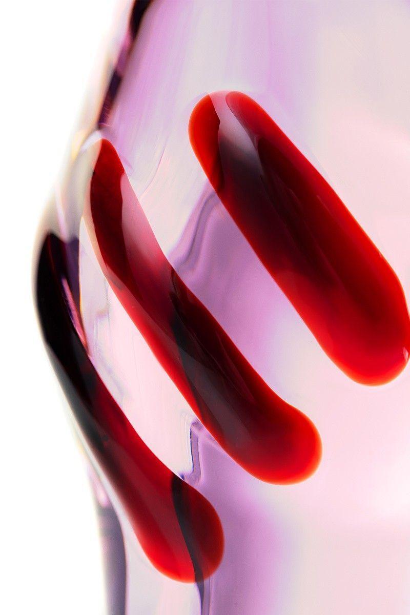 Нереалистичный фаллоимитатор Sexus Glass, Стекло, Розовый, 13 см