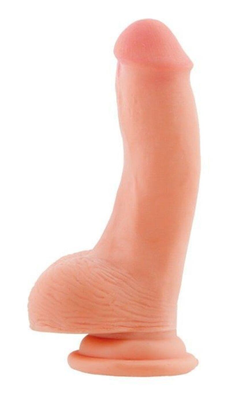 Фаллоимитатор на присоске телесный, 15 см
