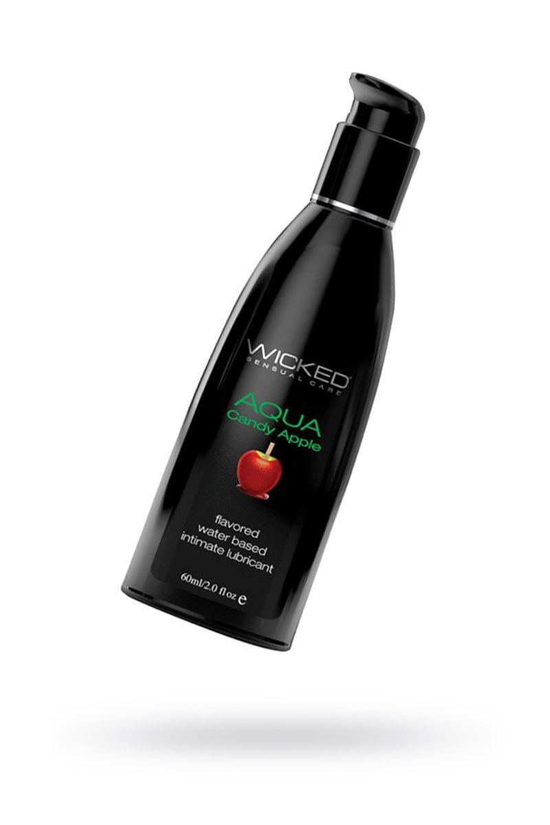 Лубрикант WICKED AQUA Candy Apple со вкусом сахарного яблока  60 мл