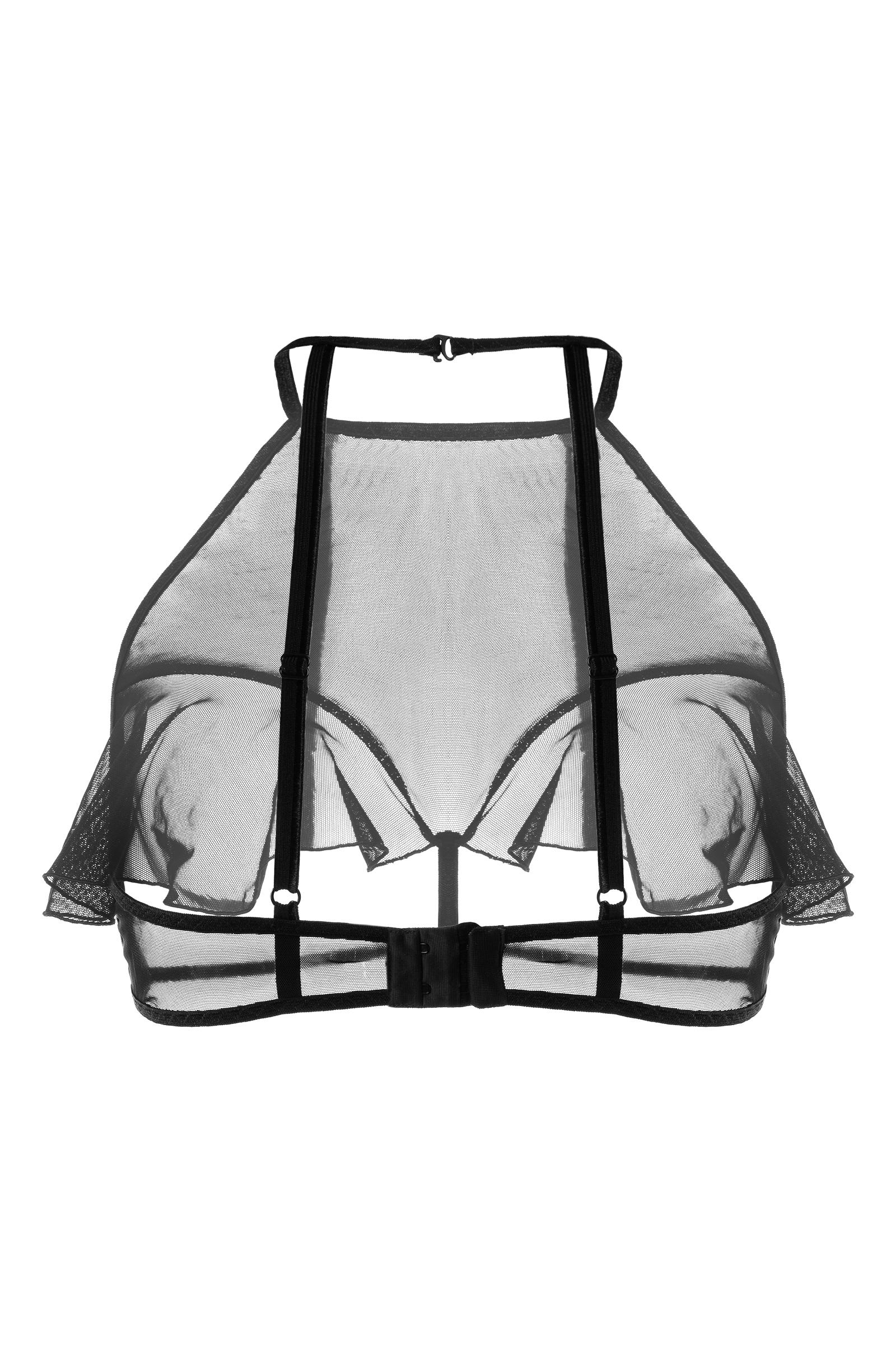 Эротический бралетт Erolanta Karen с открытой грудью, черный (50-52)