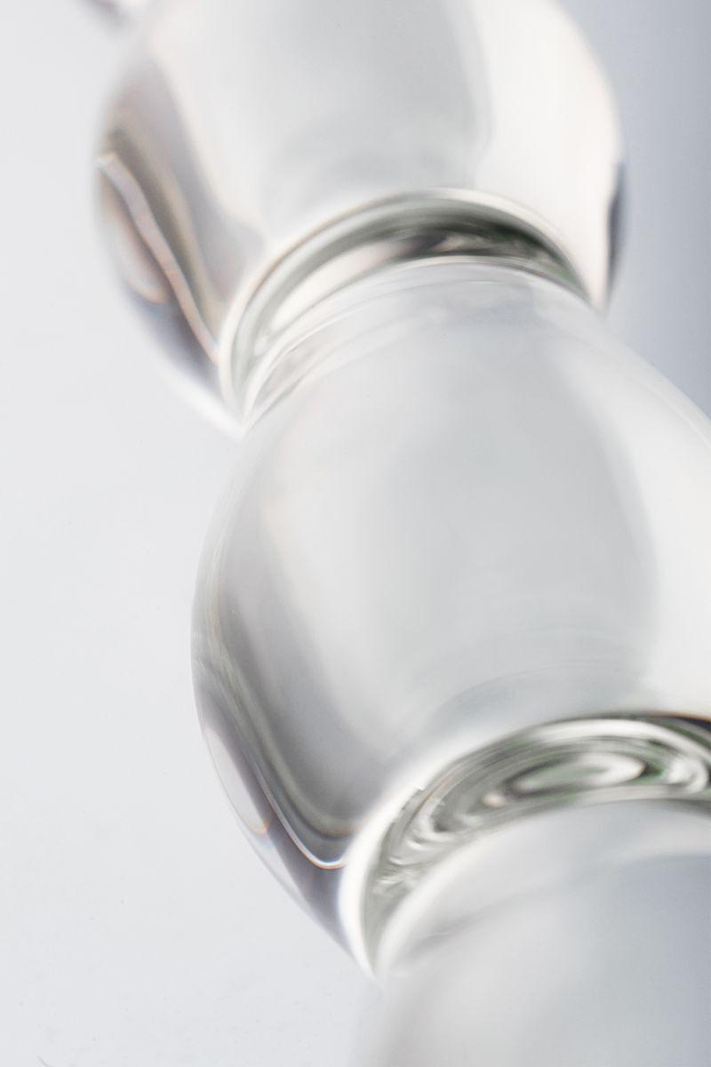 Двусторонний фаллоимитатор Sexus Glass, Стекло, Прозрачный, 18,7 см