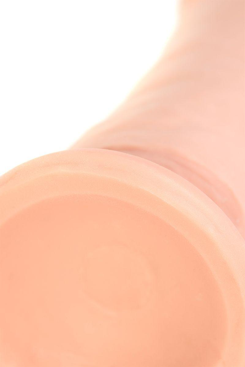 Вибратор TOYFA RealStick Elite на присоске телесный, 7 режимов вибрации, 16 см
