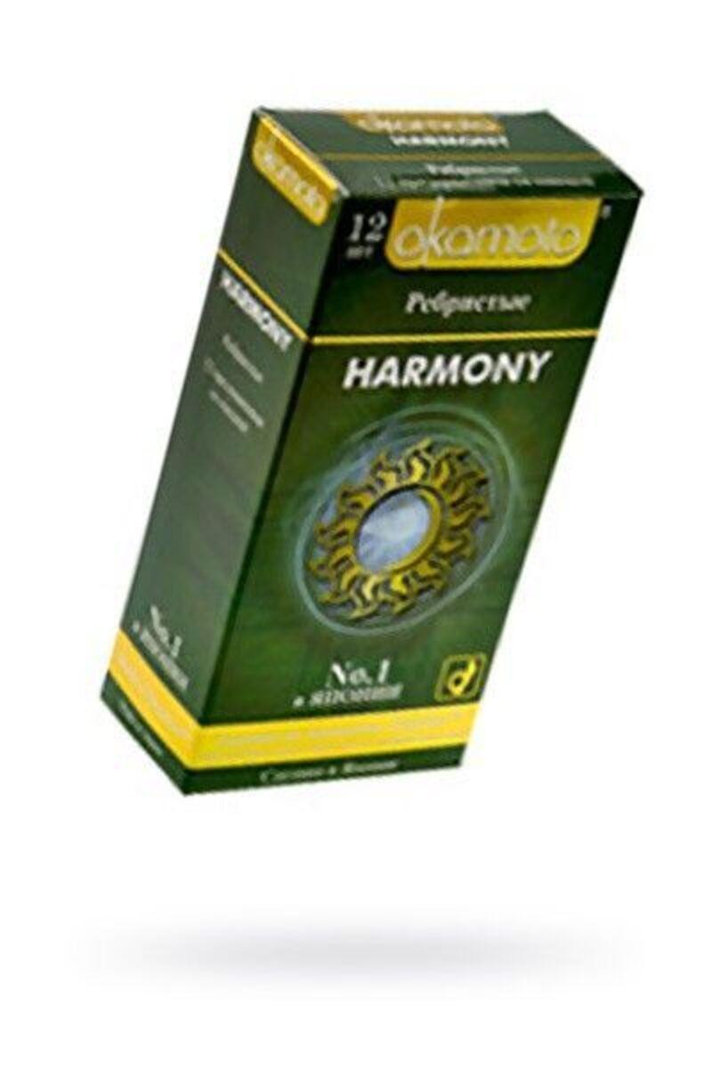 Презервативы Окамото Harmony №12Ребристые -ШТ