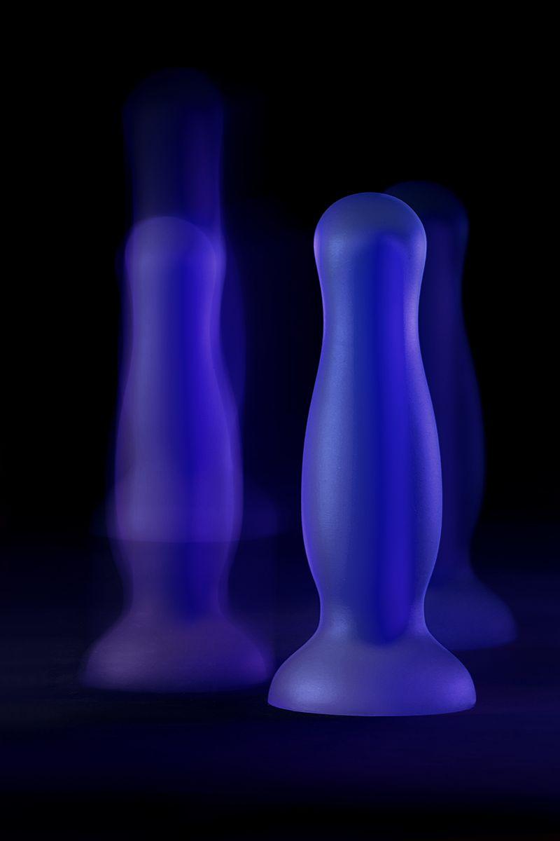 Анальная втулка светящаяся в темноте Beyond by Toyfa Namor Glow, водонепроницаемая, силикон, прозрачная, 12,5 см