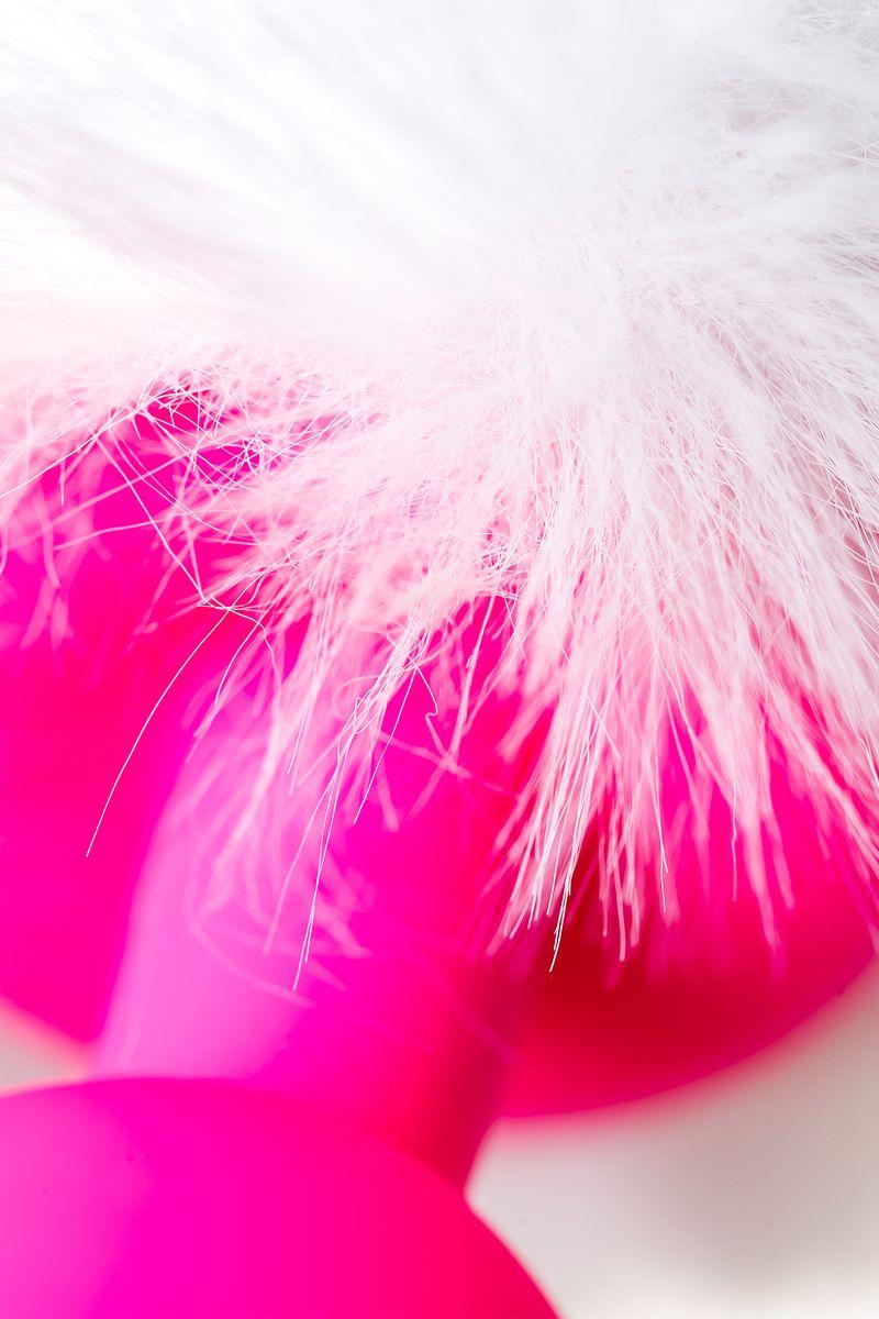 Анальная втулка с хвостом ToDo by Toyfa Sweet bunny, силикон, розово-белый, 13 см, Ø 2,8 см, 43 г