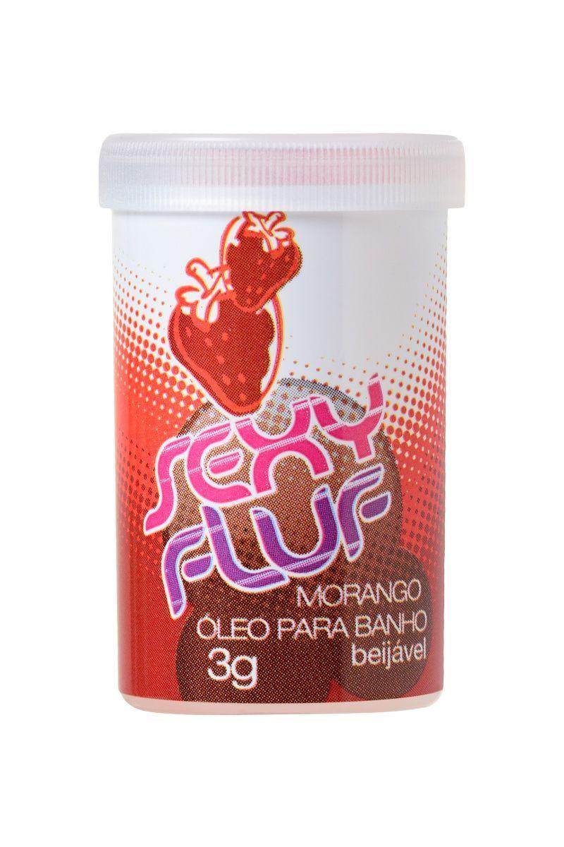 Масло для ванны, массажа и восхитительного аромата в капсулах INTT SEXY FLUF, клубника, 2 капсулы, 3 г