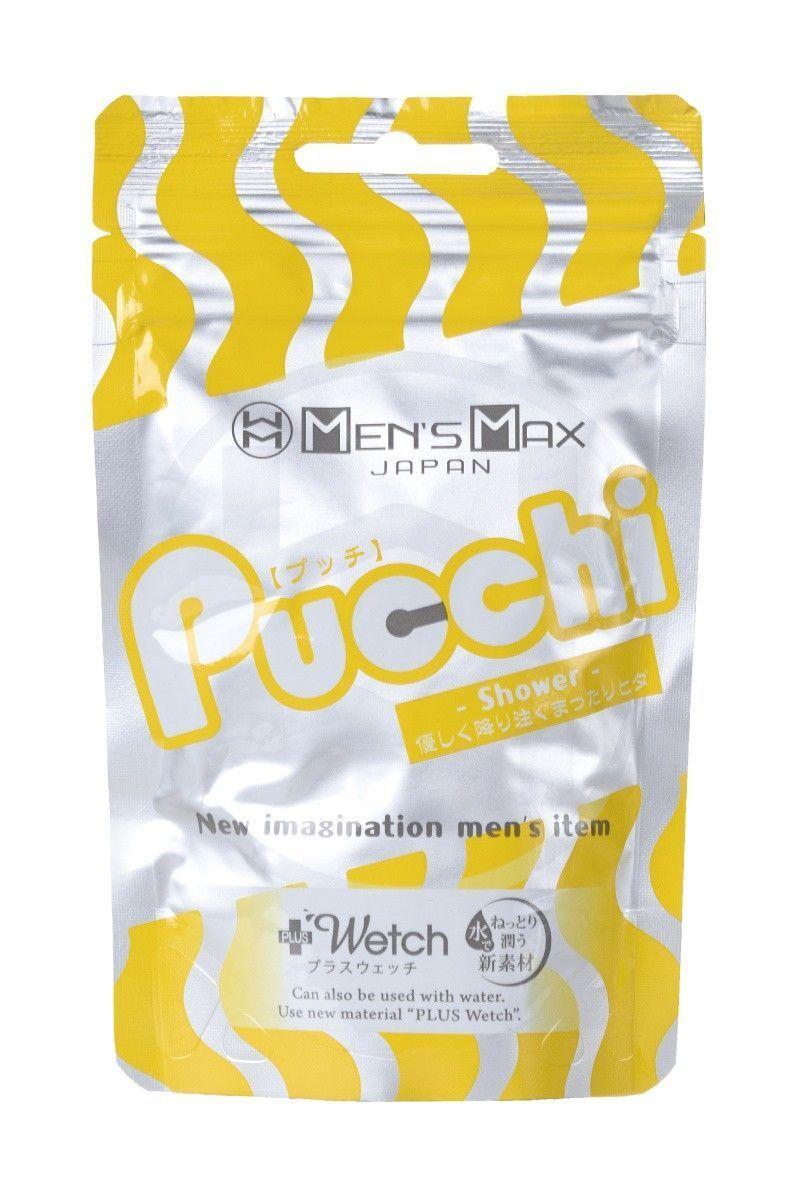 Мастурбатор нереалистичный, Pucchi Shower, MensMax, TPE, белый, 6,5 см