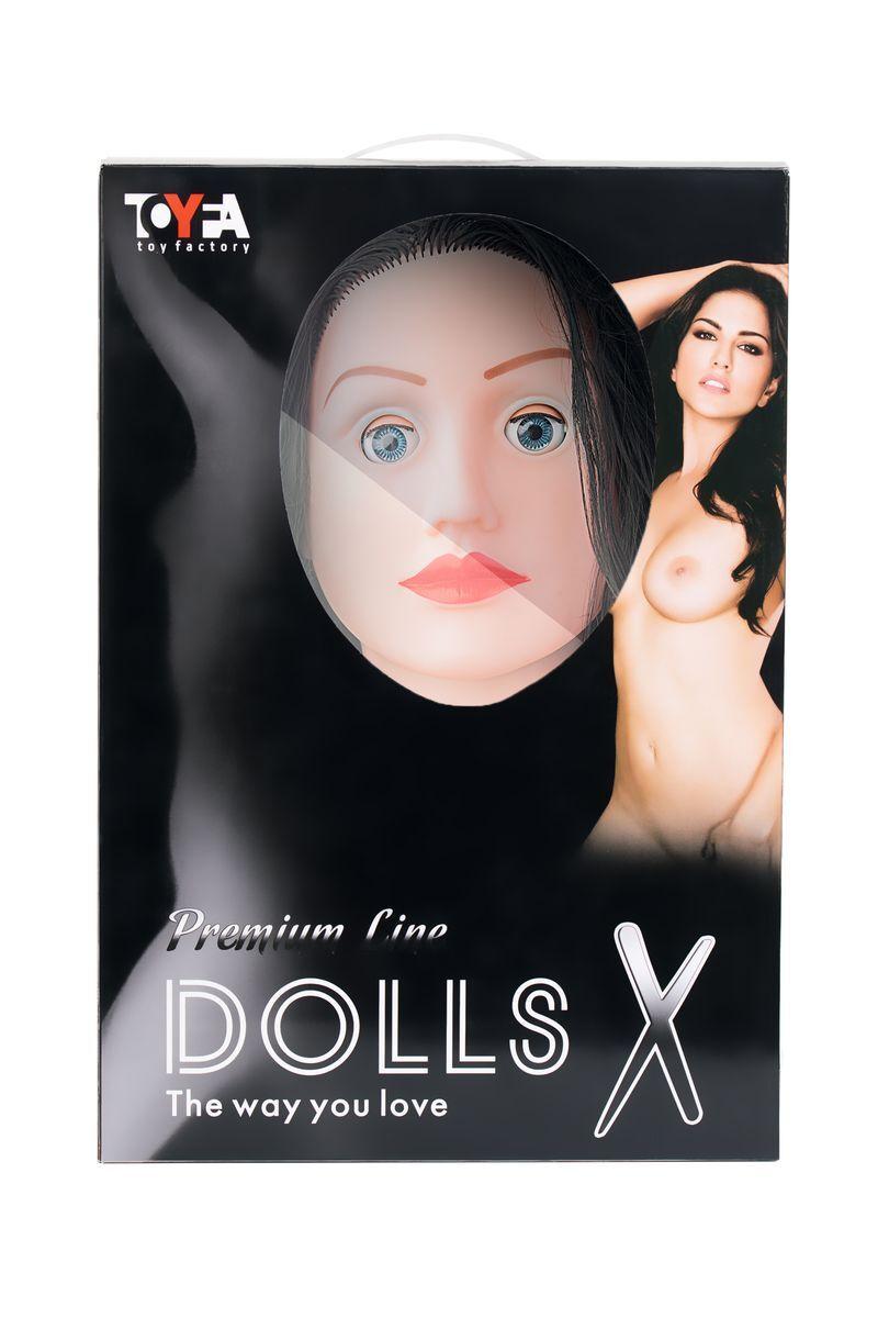 Кукла надувная Kaylee с реалистичной головой, брюнетка, TOYFA Dolls-X, кибер вставка вагина – анус, подвижные глаза, 160 см