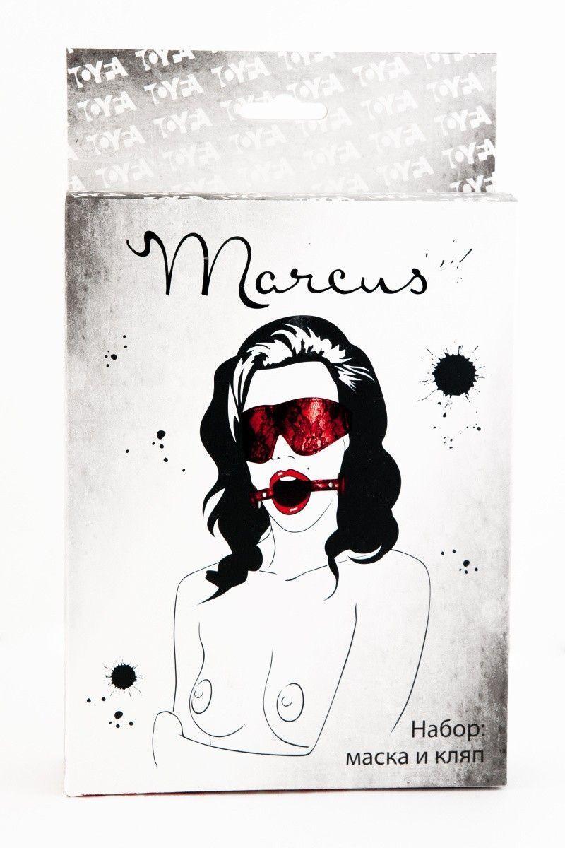 Кружевной набор TOYFA Marcus красный: маска и кляп