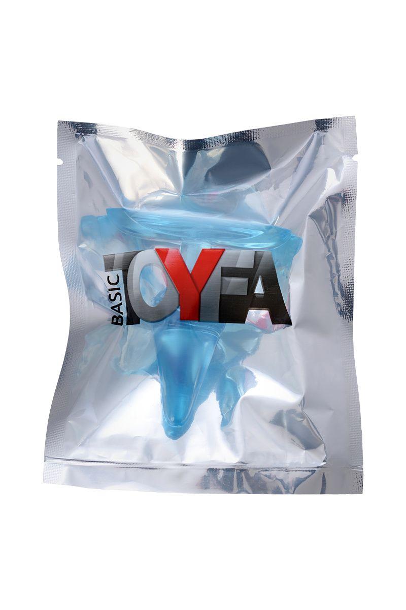Анальная втулка TOYFA, ABS пластик, голубая, 6,5 см, Ø 2,5 см