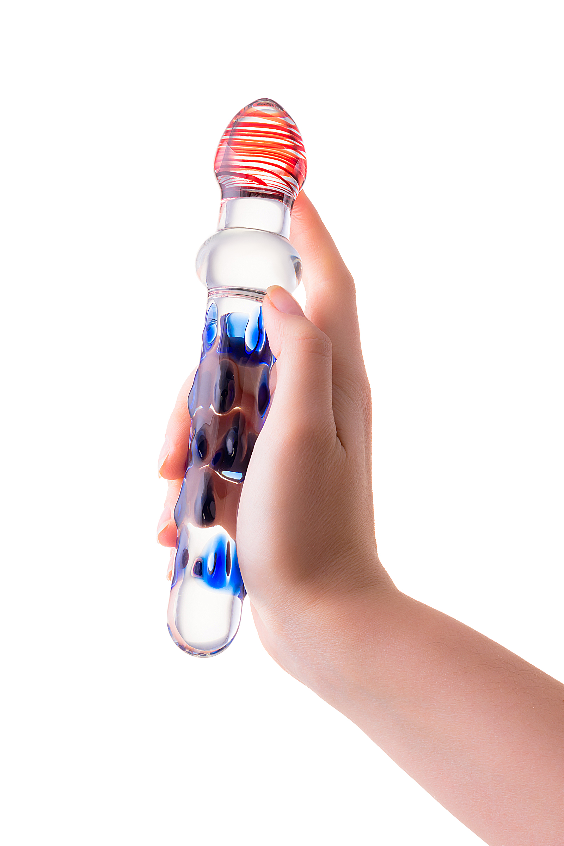 Нереалистичный фаллоимитатор Sexus Glass  , Стекло, Прозрачный, 20 см