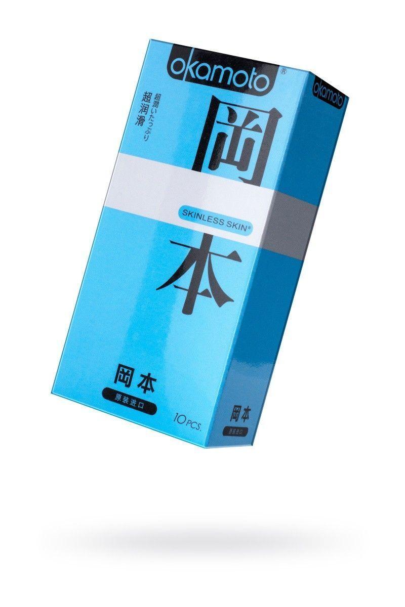 Презервативы Окамото серия Skinless Skin  Super lubricative  № 10 С двойной смазкой
