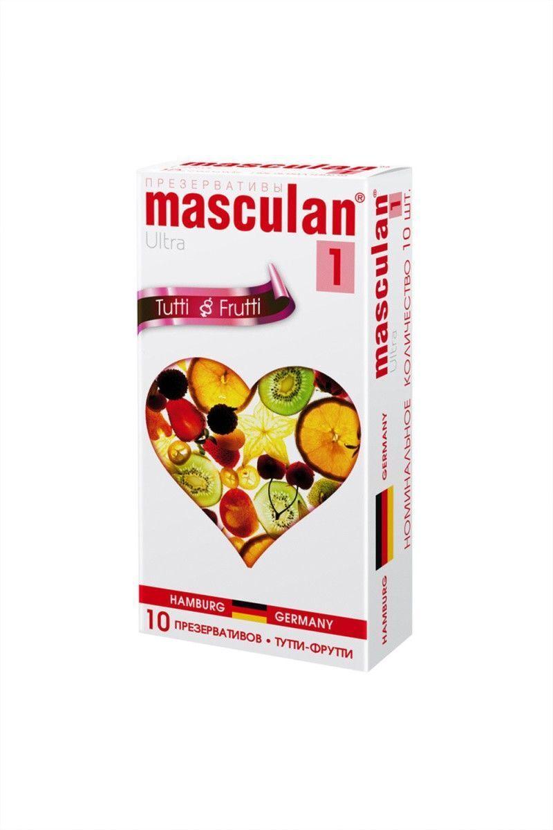 Презервативы Masculan Ultra 1,  10шт.  Тутти-Фрутти (Tutti-Frutti) ШТ