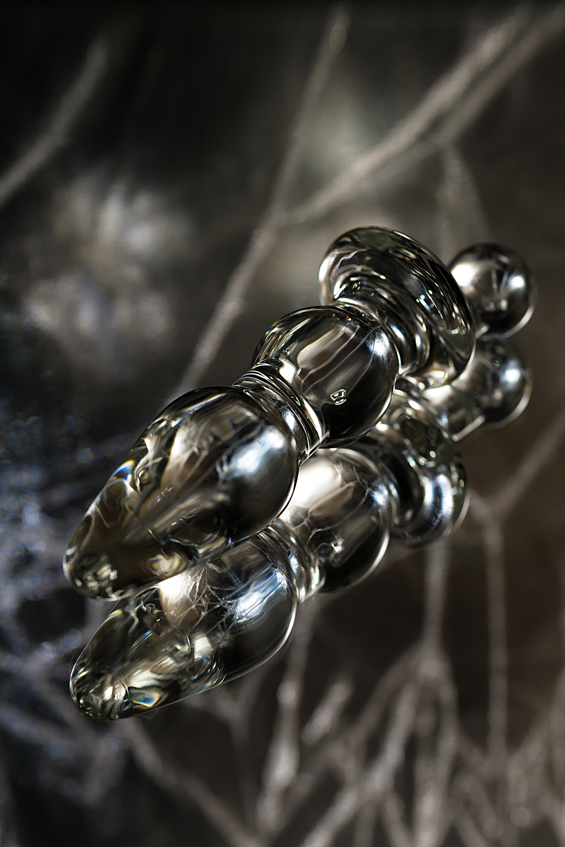 Анальная втулка Sexus Glass, Стекло, Прозрачный, 17 см
