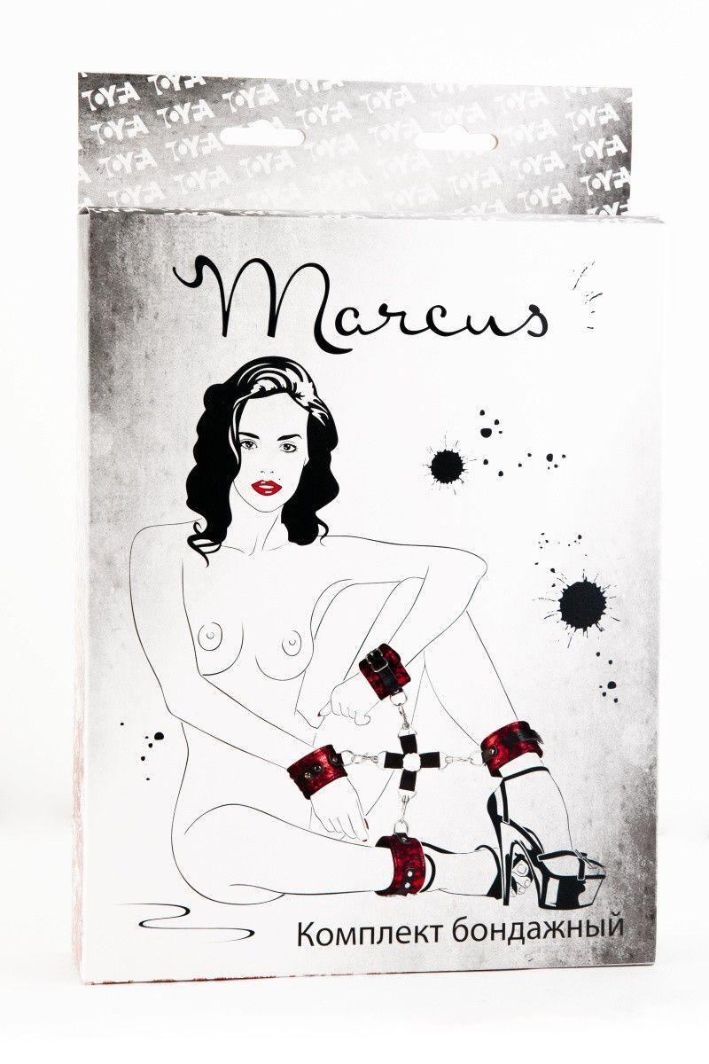 Кружевной бондажный комплект TOYFA Marcus красный