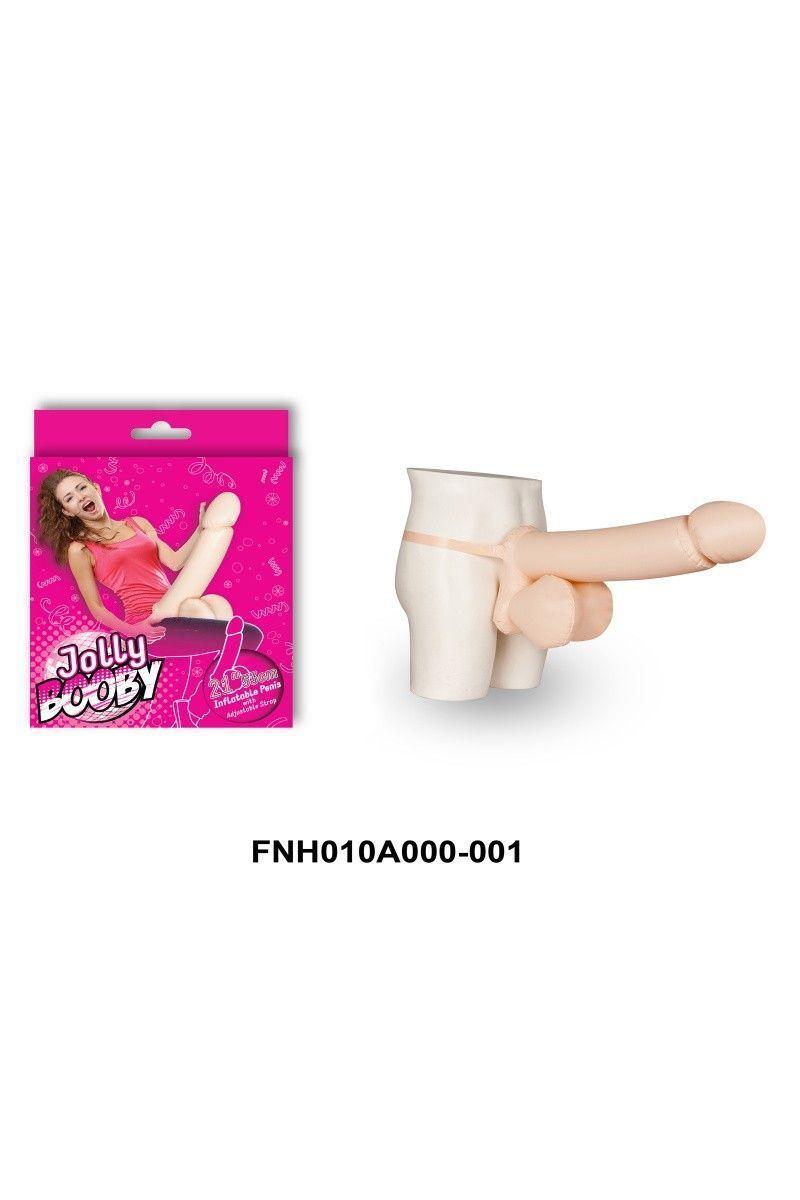 Надувной пенис телесный 53 см