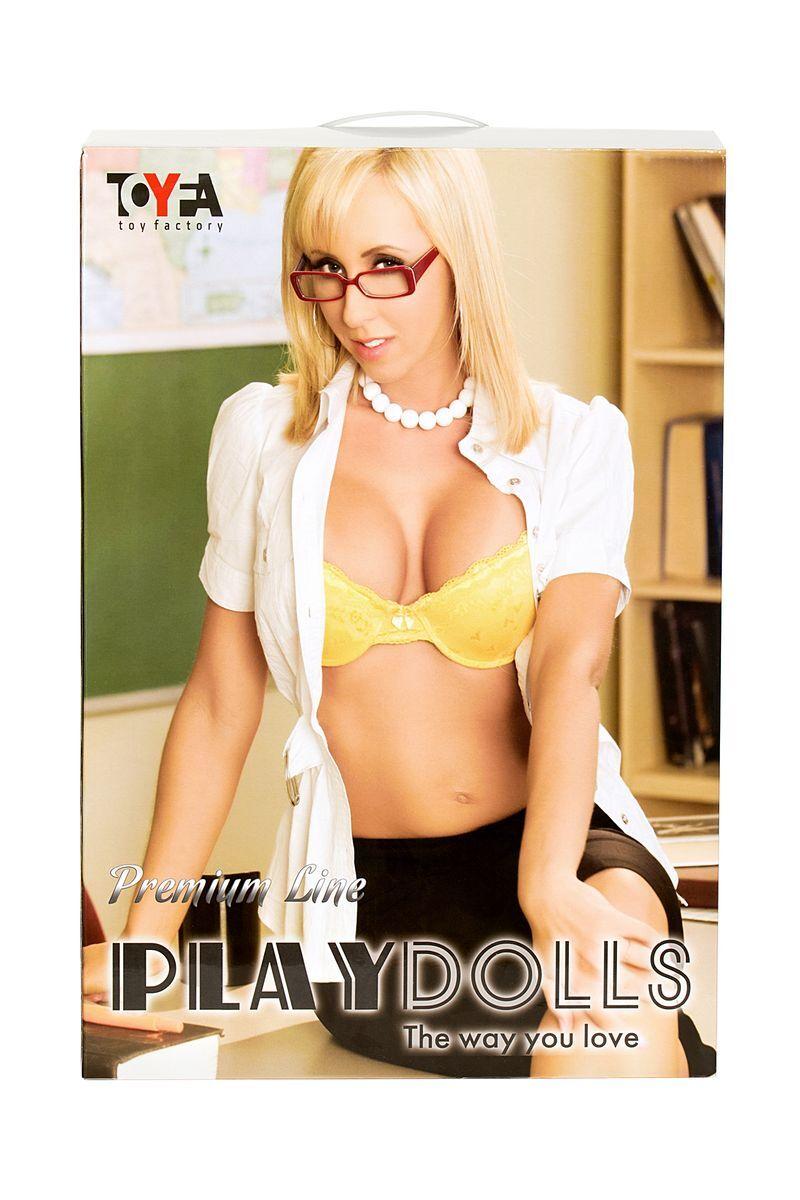 Кукла надувная Ms Melanie, реалистичная.голова, шатенка, TOYFA Dolls-X, с двумя отверстиями, вставка: вагина- анус, костюм учительницы,160 см