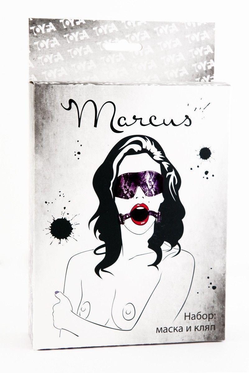 Кружевной набор TOYFA Marcus пурпурный: маска и кляп