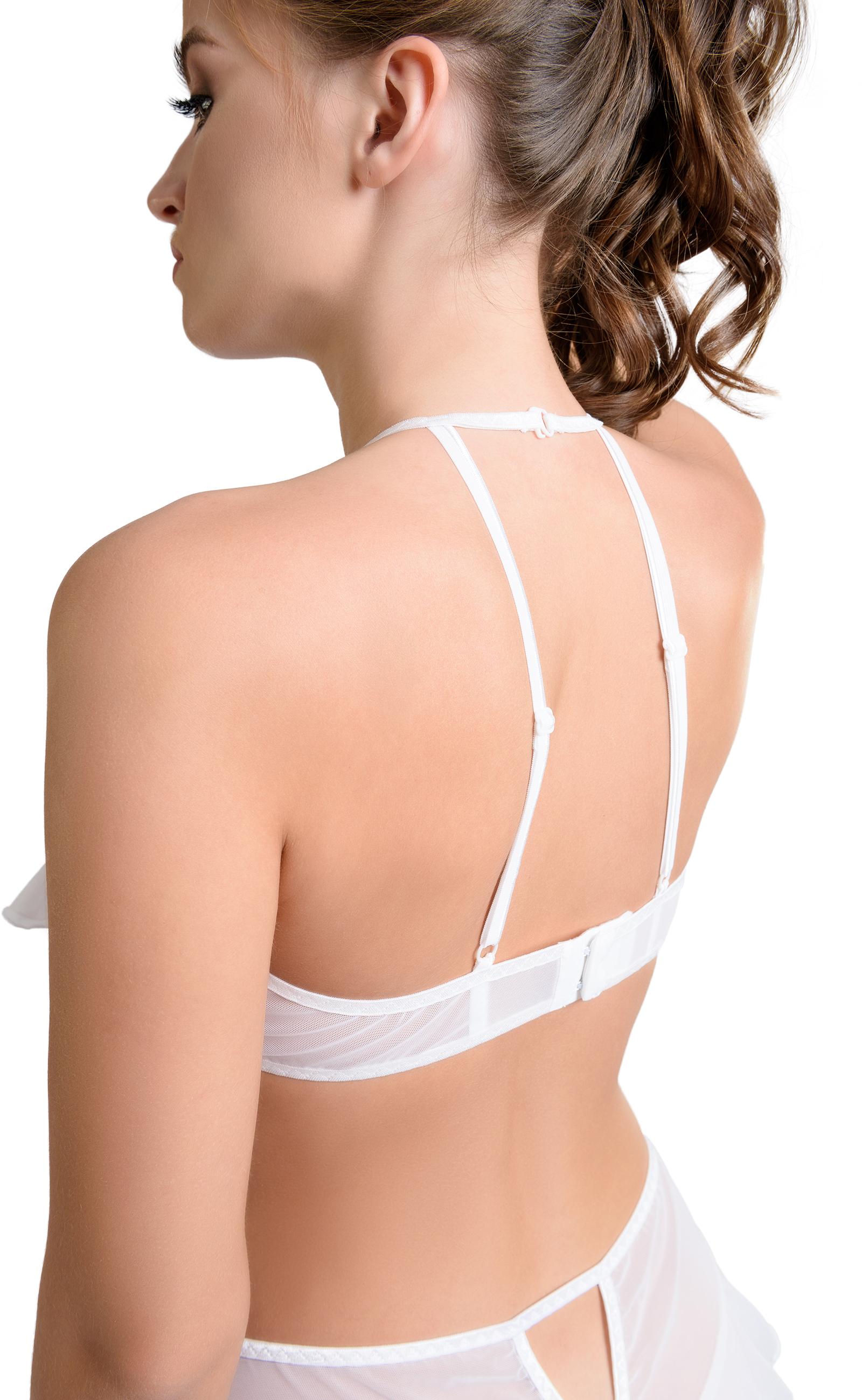 Эротический бралетт Erolanta Karen с открытой грудью, белый (50-52)