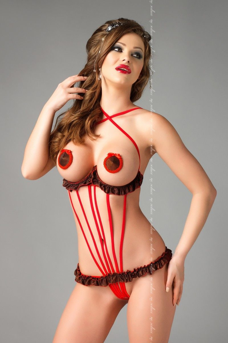 Боди с доступом Me Seduce Rita, красное, L/XL