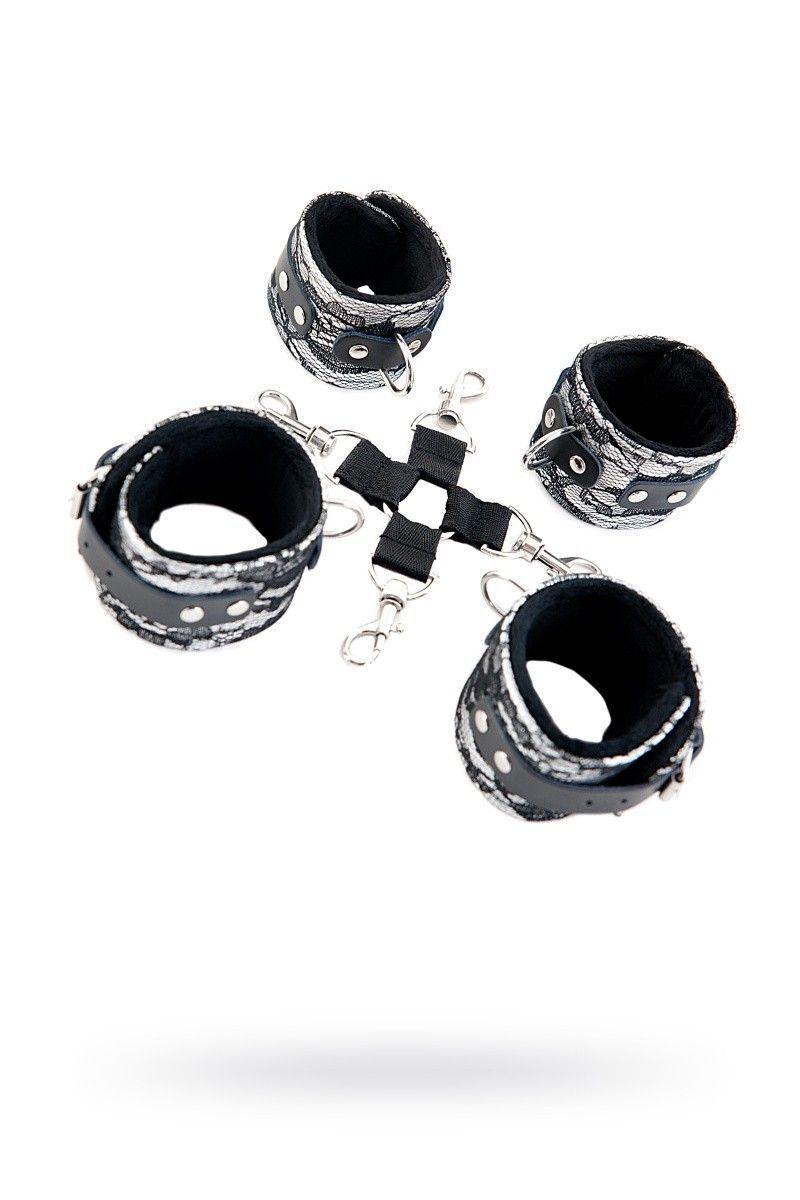 Кружевной бондажный комплект TOYFA Marcus серебристый