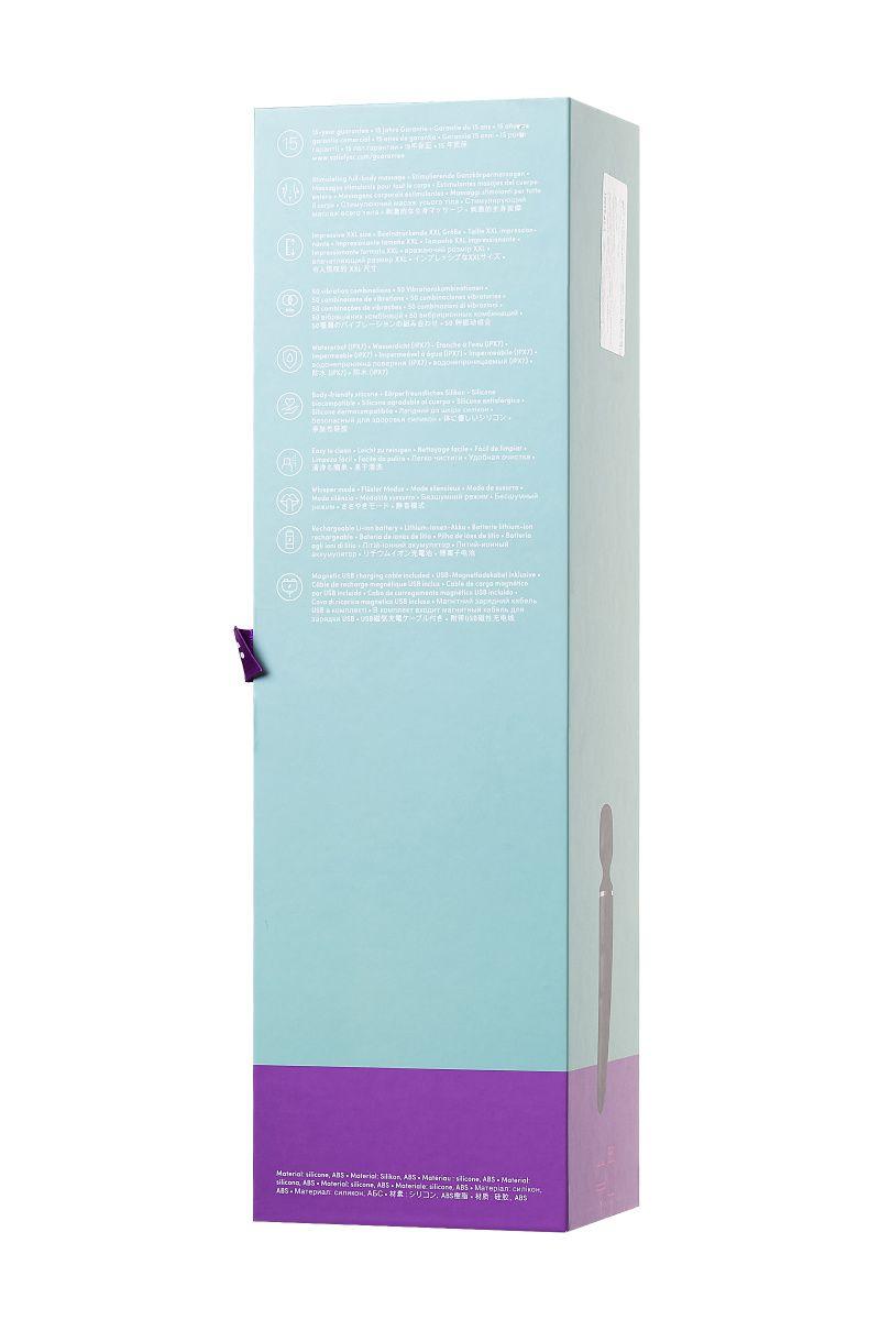 Нереалистичный вибратор Satisfyer Woman Wand , 10 режимов вибрации, ABS пластик, Чёрный, 34 см, Ø 5,7 см