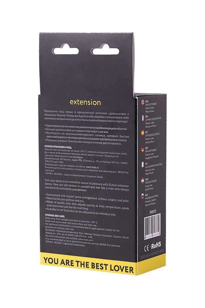 Насадка ToyFa XLover Increase+, для увеличения размера, с усиками, латекс, телесный, 6 см