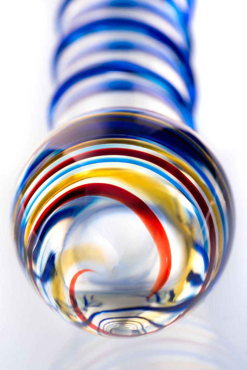 Нереалистичный фаллоимитатор Sexus Glass, Стекло, Прозрачный, 18 см
