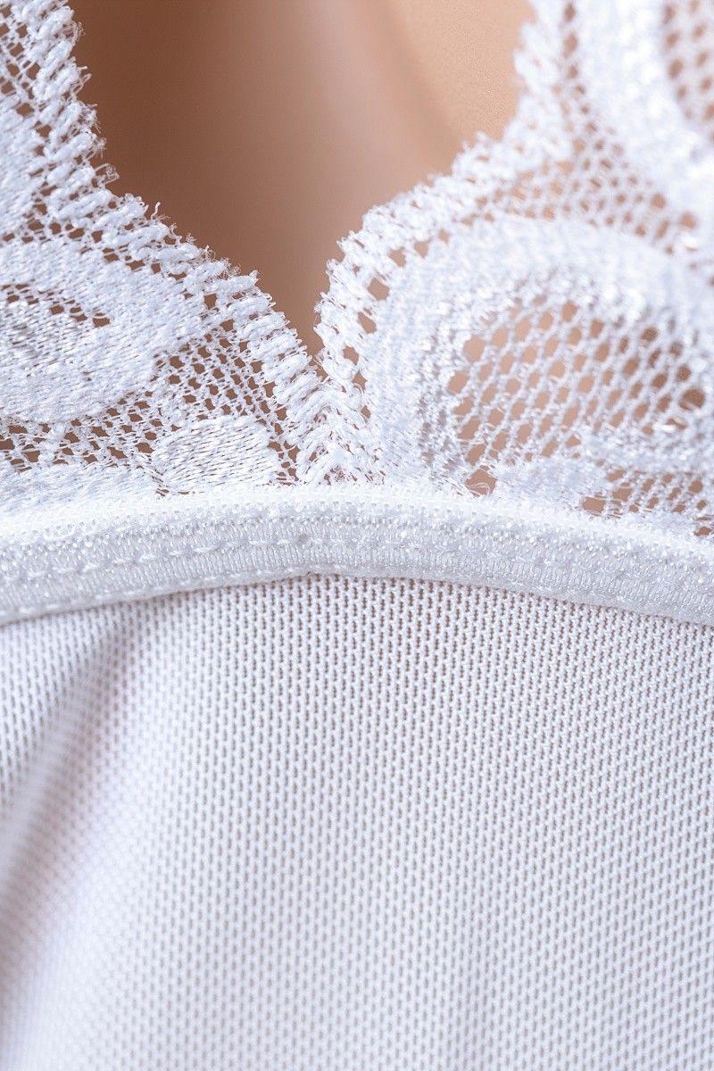 OS Комбинация Candy Girl с пажами для чулок и стринги, белые