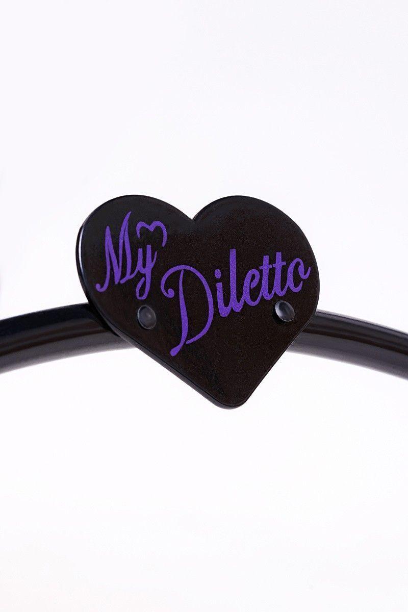 Секс-тренажер, Diva, My Diletto  с двумя насадками, металл, черный,  65 см